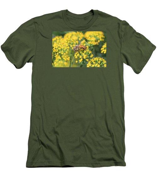 Honeybee On Dill Men's T-Shirt (Slim Fit) by Lucinda VanVleck
