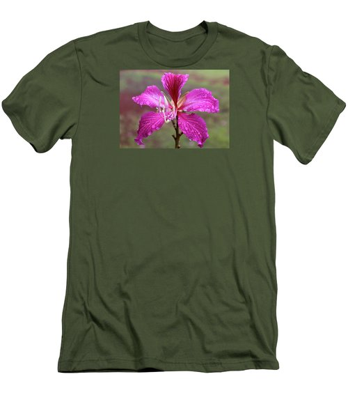 Hong Kong Orchid Tree Flower Men's T-Shirt (Slim Fit) by Venetia Featherstone-Witty