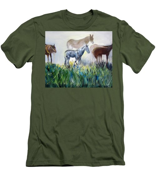 Horses In The Fog Men's T-Shirt (Athletic Fit)