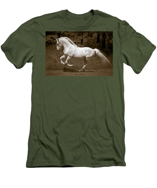 Men's T-Shirt (Slim Fit) featuring the photograph Horsepower D5779 by Wes and Dotty Weber