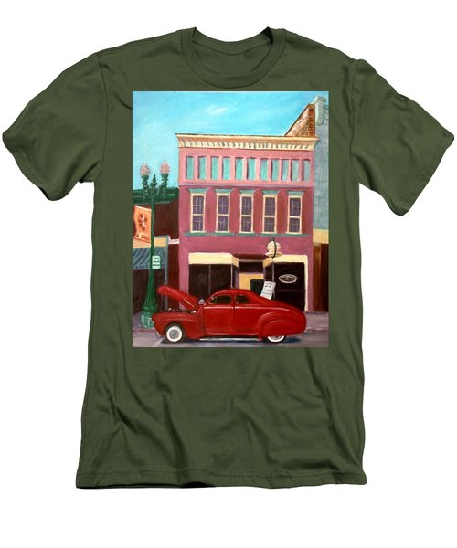 Hot Coffee Men's T-Shirt (Slim Fit) by Stacy C Bottoms