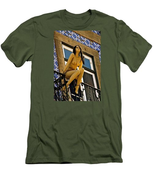 Hot Summer Day In Portugal Men's T-Shirt (Slim Fit) by Michael Cinnamond