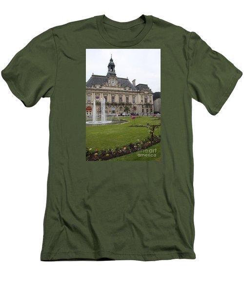 Hotel De Ville - Tours Men's T-Shirt (Slim Fit) by Christiane Schulze Art And Photography