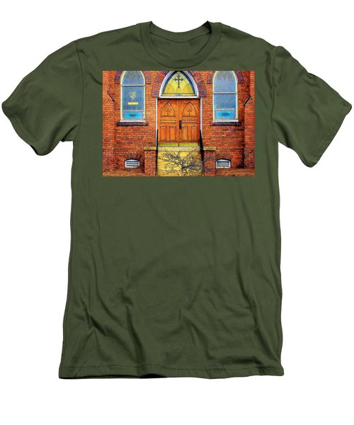House Of God Men's T-Shirt (Slim Fit) by Rodney Lee Williams