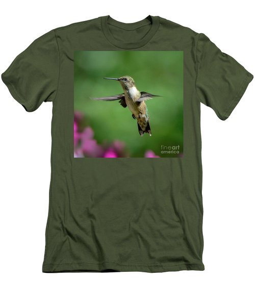 Hovering Hummer Men's T-Shirt (Athletic Fit)