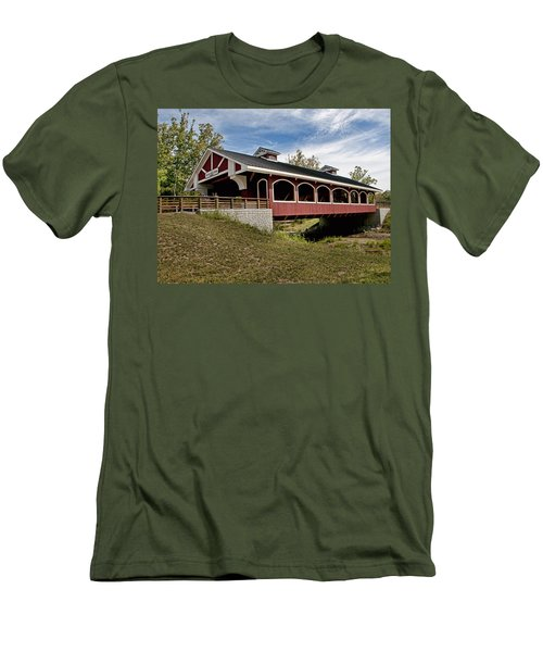 Hueston Woods Covered Bridge Men's T-Shirt (Athletic Fit)