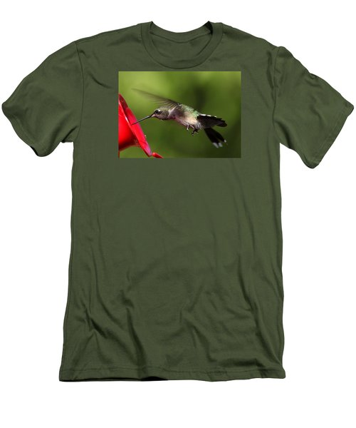 Look Hummingbird Eyelashes Men's T-Shirt (Athletic Fit)