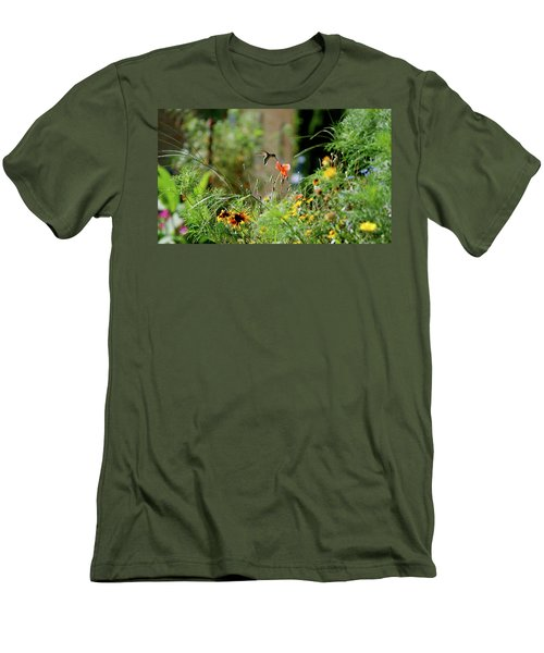 Men's T-Shirt (Slim Fit) featuring the photograph Humming Bird by Thomas Woolworth