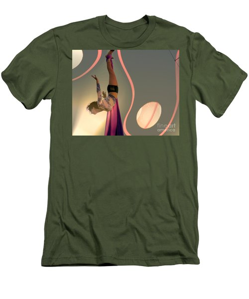 Men's T-Shirt (Slim Fit) featuring the photograph I Can Fly by Irma BACKELANT GALLERIES