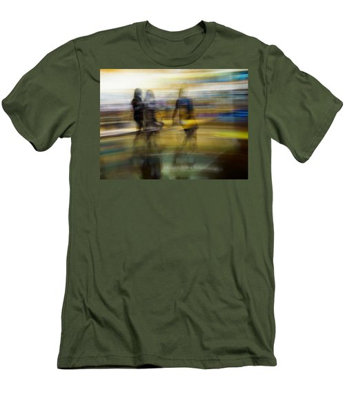 Men's T-Shirt (Slim Fit) featuring the photograph I Had A Dream That You And Your Friends Were There by Alex Lapidus