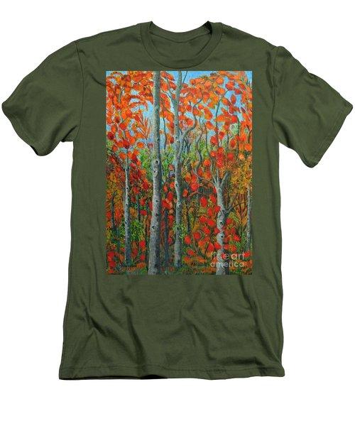 I Love Fall Men's T-Shirt (Slim Fit) by Holly Carmichael