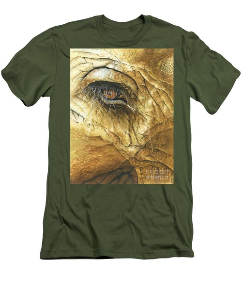 Men's T-Shirt (Slim Fit) featuring the painting If You Could See What I've Seen... by Barbara Jewell