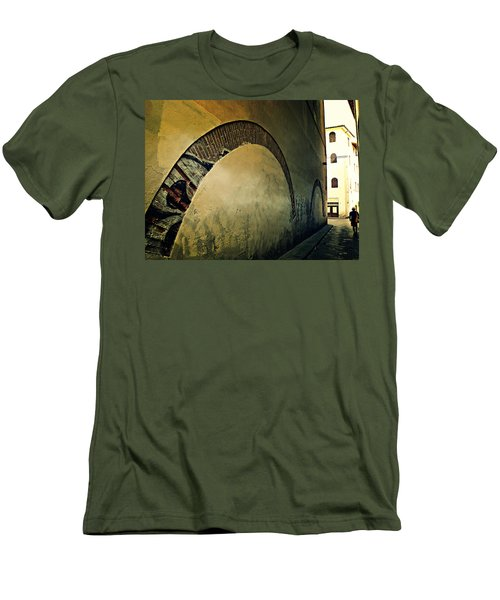 Men's T-Shirt (Slim Fit) featuring the photograph Il Muro  by Micki Findlay