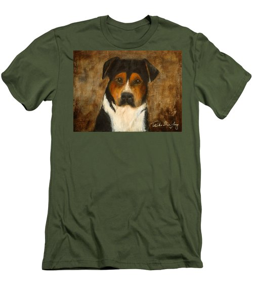 Men's T-Shirt (Slim Fit) featuring the painting I'll Wait For You by Barbie Batson