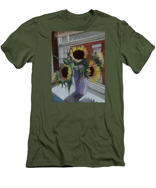 Men's T-Shirt (Slim Fit) featuring the pastel Illumine by Pattie Wall