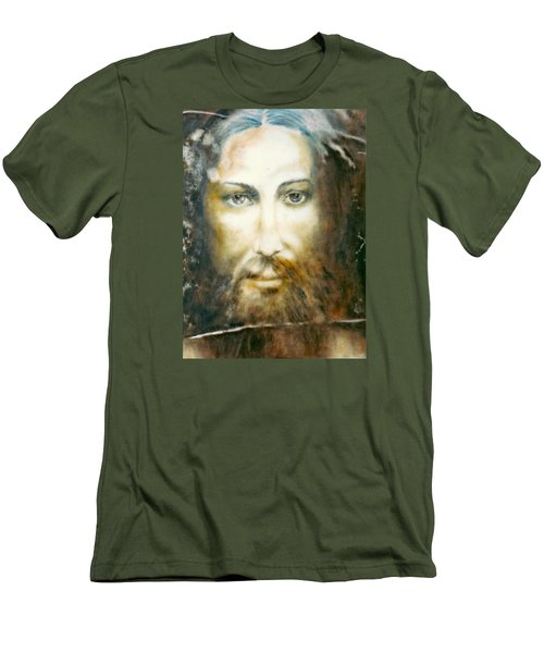 Image Of Christ Men's T-Shirt (Slim Fit) by Henryk Gorecki