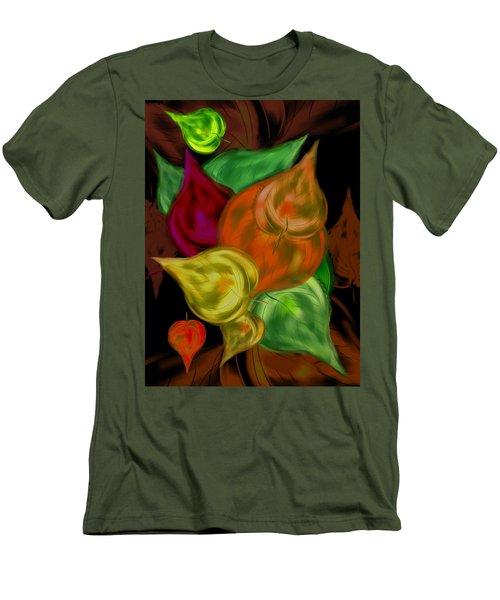 Imagine Leaves Men's T-Shirt (Slim Fit) by Christine Fournier
