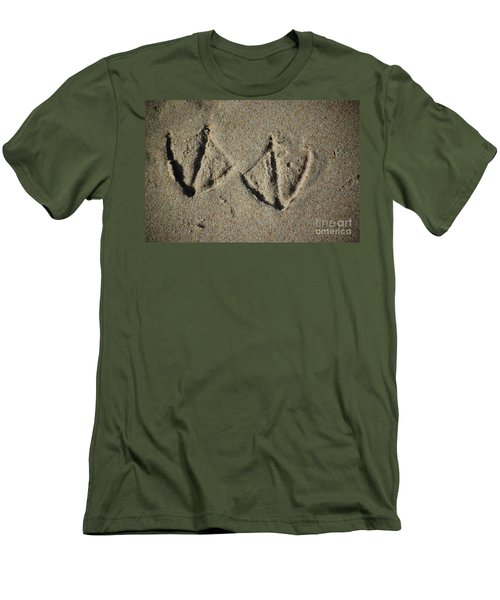 Men's T-Shirt (Athletic Fit) featuring the photograph Imprints by Christiane Hellner-OBrien