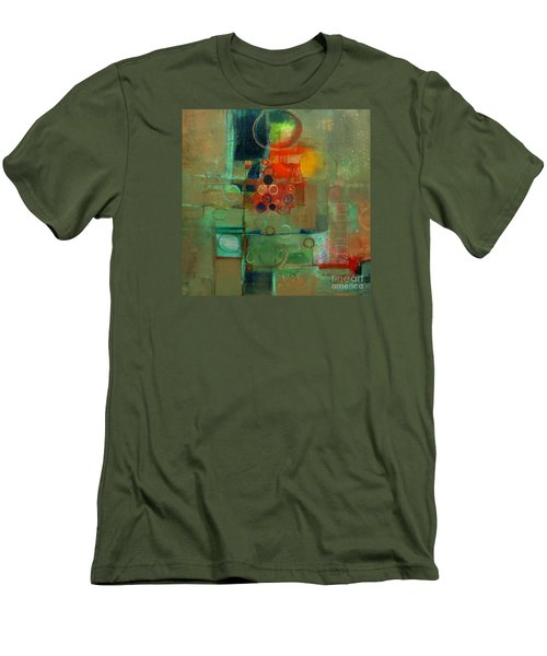 Men's T-Shirt (Slim Fit) featuring the painting Improvisation by Michelle Abrams