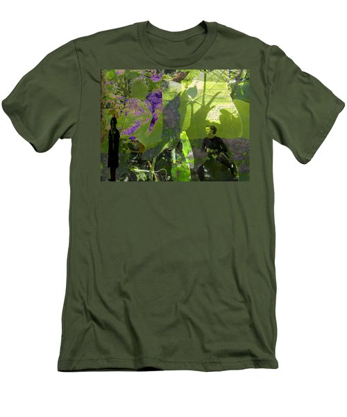 Men's T-Shirt (Slim Fit) featuring the digital art In A Dream by Cathy Anderson