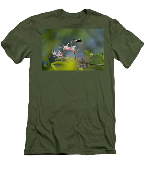 Men's T-Shirt (Slim Fit) featuring the photograph In Flight by Tara Potts