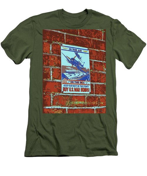 Men's T-Shirt (Slim Fit) featuring the photograph In The Air And On The Sea Poster by Jean Goodwin Brooks