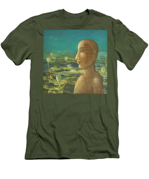 In The Realm Of Buddha Men's T-Shirt (Slim Fit) by Mini Arora