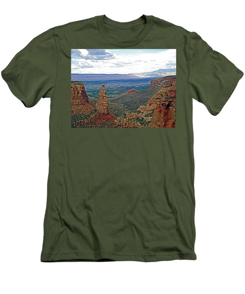 Independence Monument In Colorado National Monument Near Grand Junction-colorado Men's T-Shirt (Athletic Fit)