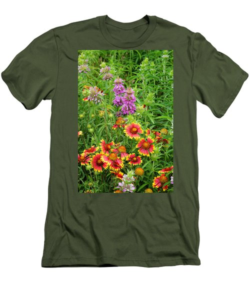Indian Blankets And Lemon Horsemint Men's T-Shirt (Athletic Fit)