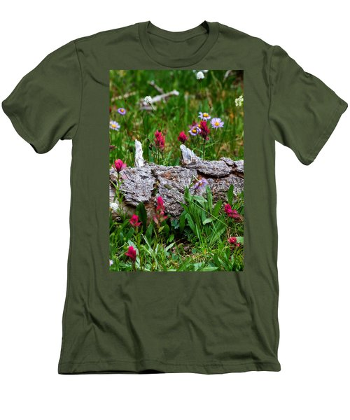 Men's T-Shirt (Slim Fit) featuring the photograph Indian Paintbrush by Ronda Kimbrow