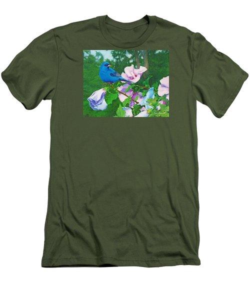 Indigo Bunting  Men's T-Shirt (Slim Fit) by Ken Everett