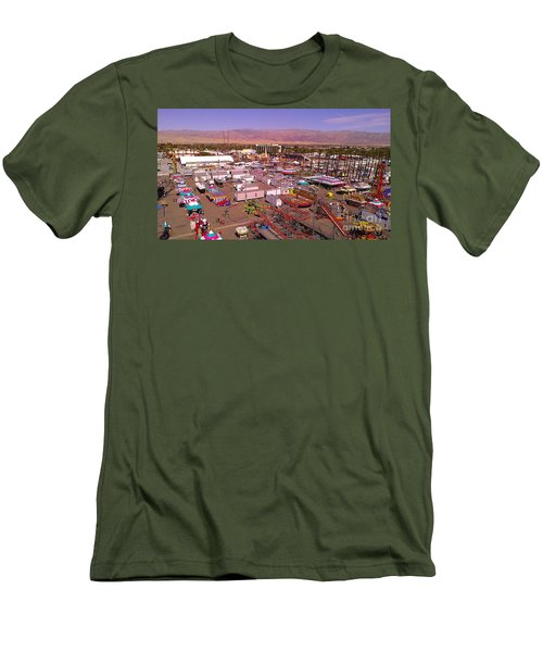 Men's T-Shirt (Slim Fit) featuring the photograph Indio Fair Grounds by Chris Tarpening