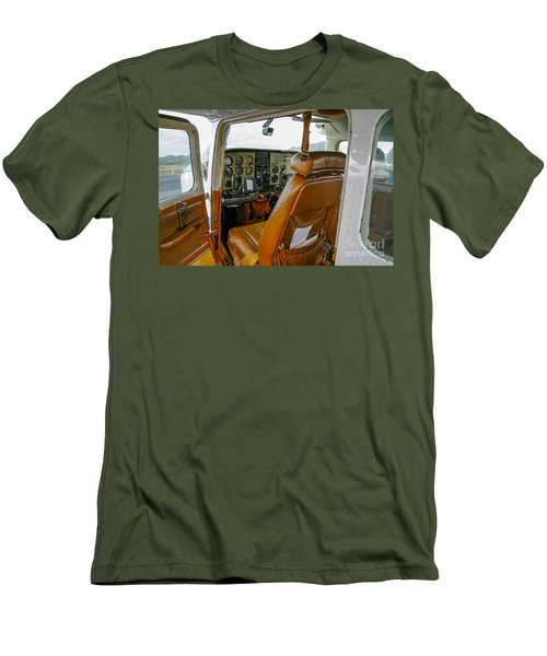 inside a small Cesna Men's T-Shirt (Slim Fit) by Patricia Hofmeester