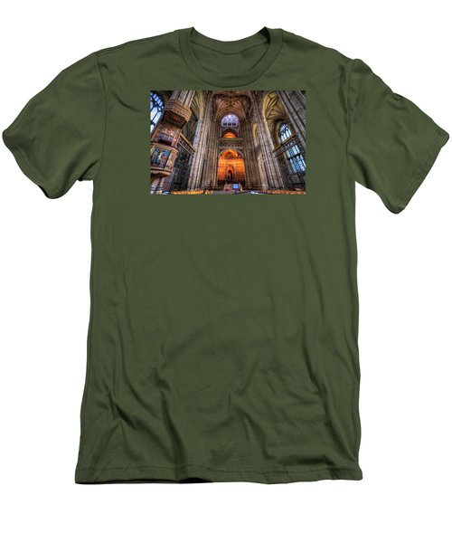 Men's T-Shirt (Slim Fit) featuring the photograph Inside Canterbury Cathedral by Tim Stanley