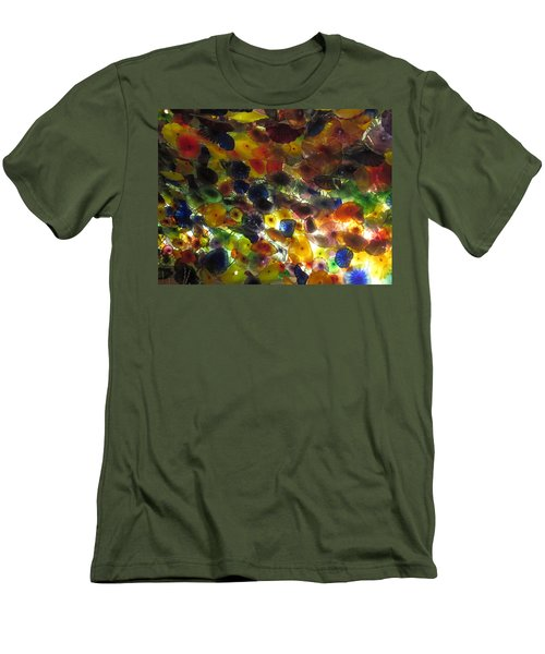 Men's T-Shirt (Slim Fit) featuring the photograph Interior Roof Decorations Casino Hotel Resorts Las Vegas by Navin Joshi