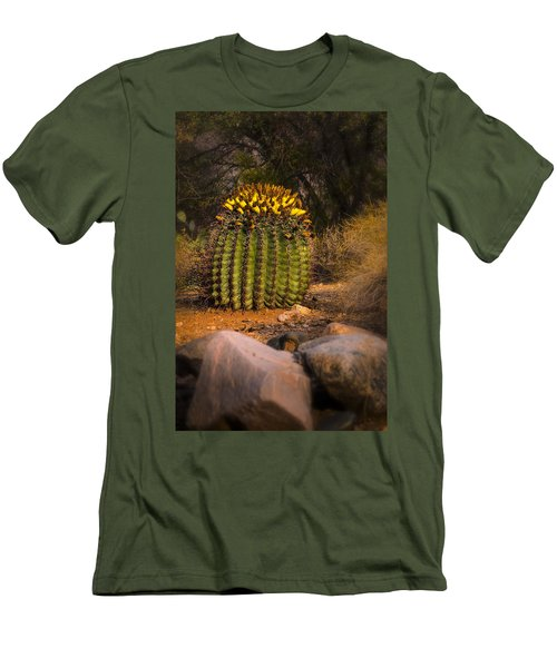 Men's T-Shirt (Slim Fit) featuring the photograph Into The Prickly Barrel by Mark Myhaver