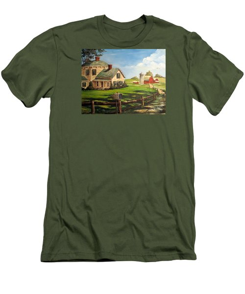 Cherokee Iowa Farm House Men's T-Shirt (Athletic Fit)