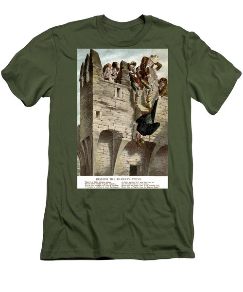 Men's T-Shirt (Slim Fit) featuring the painting Ireland The Blarney Stone by Granger
