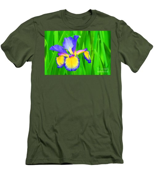 Iris Blossom Men's T-Shirt (Athletic Fit)