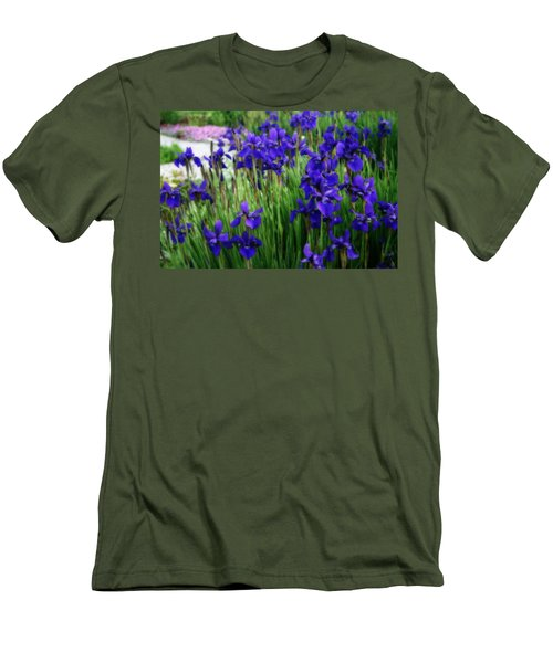 Men's T-Shirt (Slim Fit) featuring the photograph Iris In The Field by Kay Novy