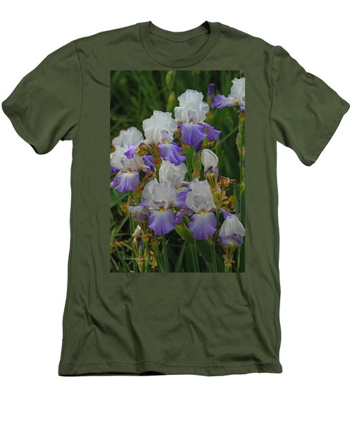 Iris Patch At The Arboretum Men's T-Shirt (Athletic Fit)
