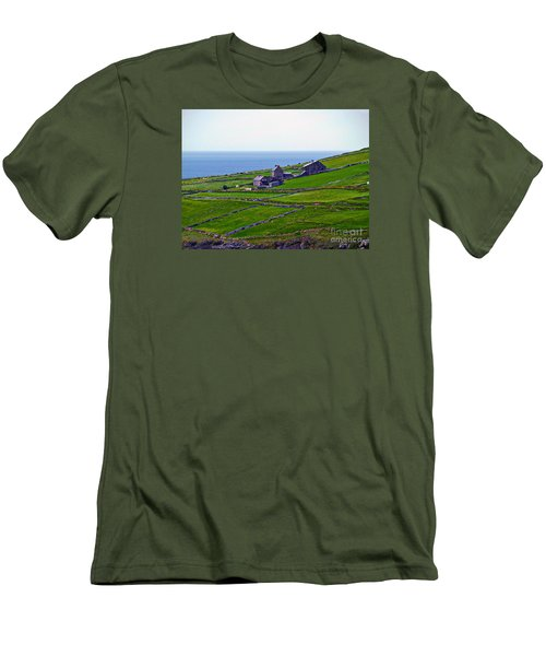 Irish Farm 1 Men's T-Shirt (Slim Fit) by Patricia Griffin Brett