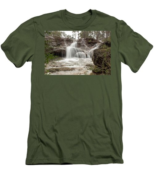 Ironstone Gully Falls 1 Men's T-Shirt (Athletic Fit)
