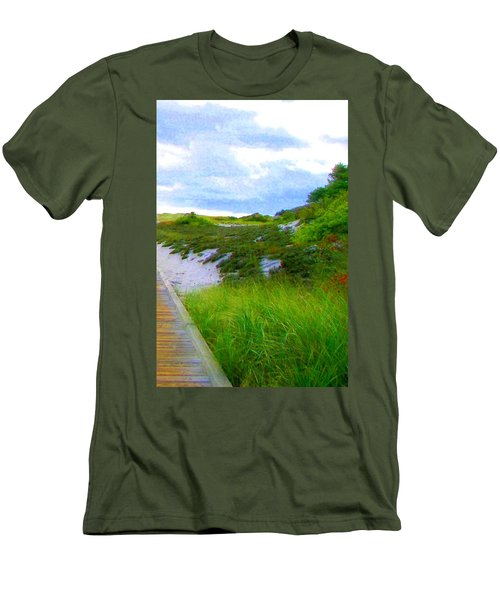 Island State Park Boardwalk Men's T-Shirt (Athletic Fit)