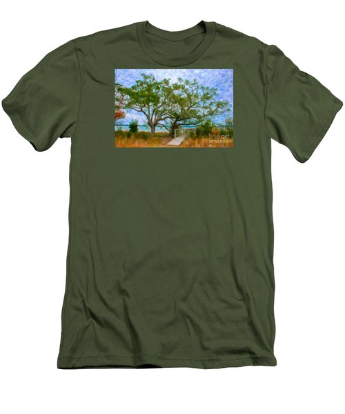 Island Time On Daniel Island Men's T-Shirt (Athletic Fit)
