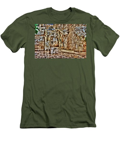 Men's T-Shirt (Slim Fit) featuring the photograph Israels Ruins by Doc Braham