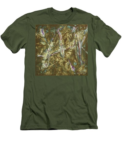 Men's T-Shirt (Slim Fit) featuring the painting It's Crazy Out There by Mini Arora