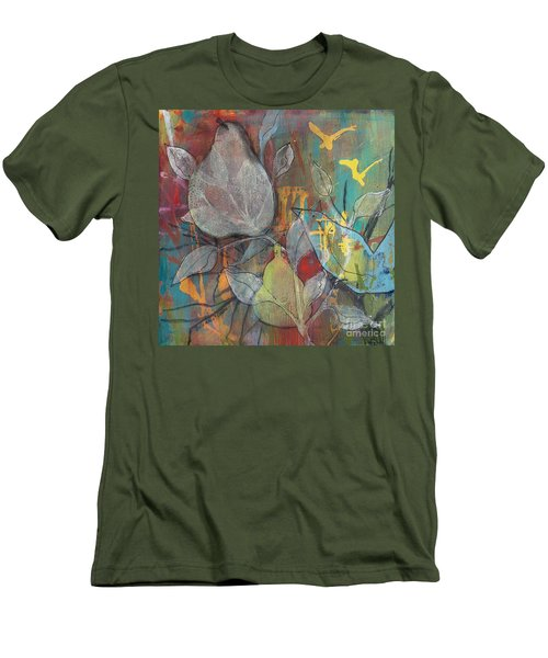Men's T-Shirt (Slim Fit) featuring the painting It's Electric by Robin Maria Pedrero