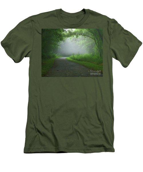Mystery Walk Men's T-Shirt (Slim Fit) by Douglas Stucky