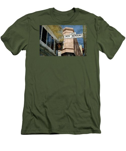 Jack Kerouac Alley And Vesuvio Pub Men's T-Shirt (Athletic Fit)